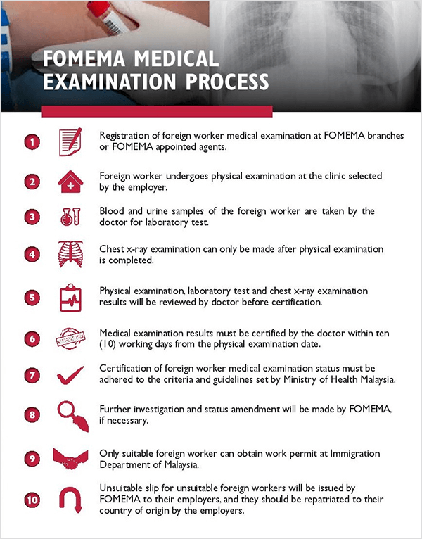 fomema medical examination process